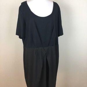 Gap Dress Sz 20 Stretch Gray Black Sheath